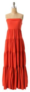 ORANGE Maxi Dress by Anthropologie Bohemian Picacho Tiered