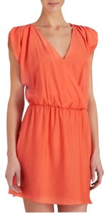 Parker short dress Coral Silk Wrap on Tradesy