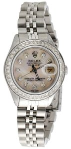 Rolex Ladies Stainless Steel Rolex Datejust Jubliee Diamond Watch White Mop Dial 1.5ct