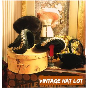 VINTAGE HAT BUNDLE(6)/VINTAGE HAT CASE CLASSIC BUNDLE OF 6 VINTAGE HATS-ALL STYLES/COLORS WITH VINTAGE HAT BOX INCLUDED