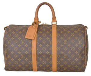 Louis Vuitton Bandouliere Malletie Brown Travel Bag