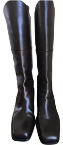 Chanel Western Midcalf Dark brown Boots