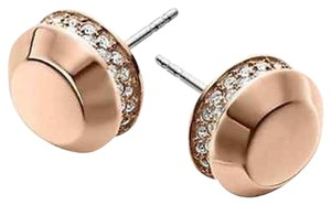 Michael Kors BRAND NEW! Michael Kors ROSE GOLD Pave Astor Earrings