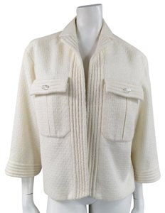 Chanel Sparkle Ribbed Crystal Cream Jacket