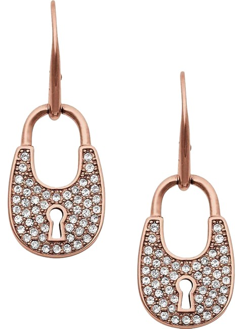 Michael Kors Rose Gold Padlock Drop Earrings Michael Kors Rose Gold Padlock Drop Earrings Image 1