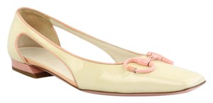 Gucci Cream and Light Pink Flats