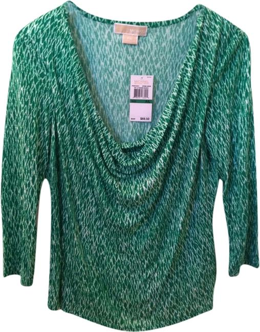 Michael Kors Top Green White