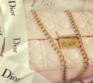 Dior Quilted Chain Calfskin Cross Body Bag