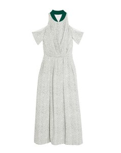 WHITE AND FOREST GREEN Maxi Dress by ADEAM Maxi Maxi