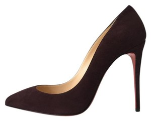 Christian Louboutin Pigalle Follies So Kate Suede Purple Pumps