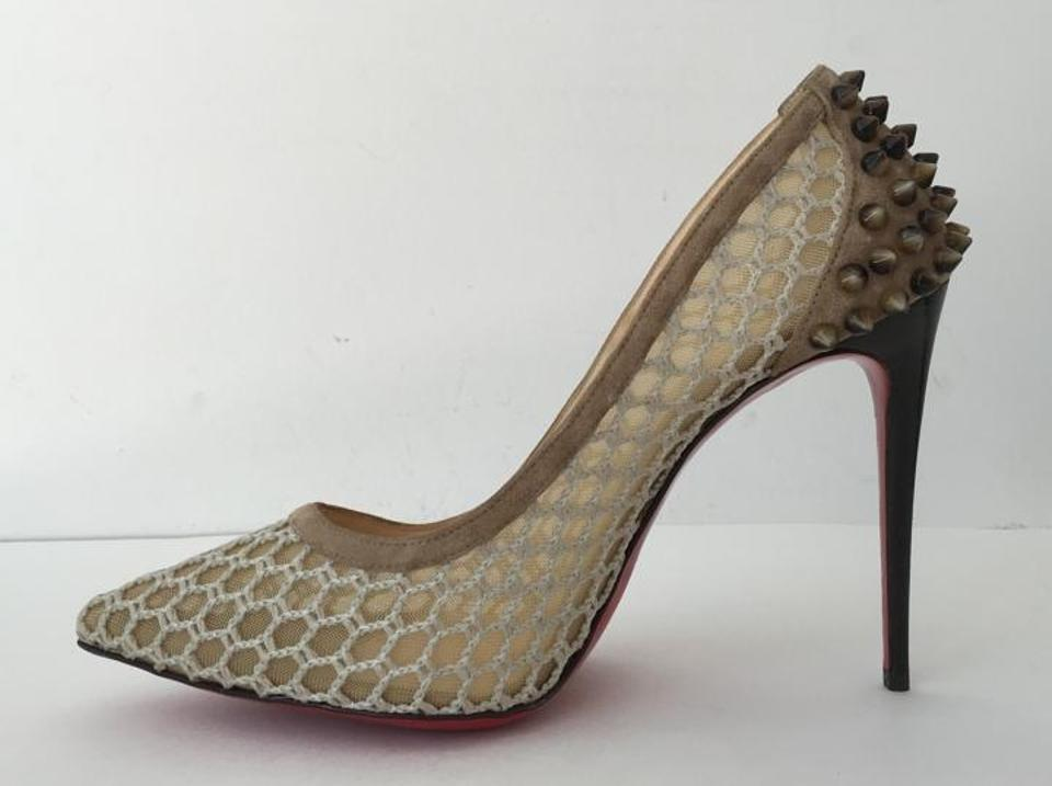 c8a51119fa26 Christian Louboutin Guni Mesh Spiked So Kate Tan Nude Pumps Image 9.  12345678910