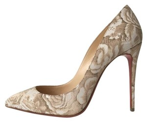 Christian Louboutin Pigalle Follies Porcelain Nude Pumps