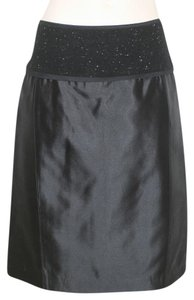 Narciso Rodriguez Black Silk Cocktail Skirt