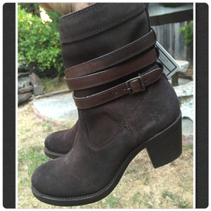 Frye Charcoal oiled suede Boots