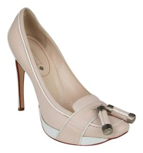 Céline Platform PEACH BEIGE AND WHITE Pumps