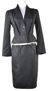 Louis Vuitton Louis Vuitton Black Striped Skirt Suite Size Jacket 36 Skirt 38