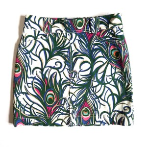 Lilly Pulitzer Mini Skirt Cream and Green
