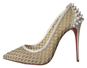 Christian Louboutin Guni Pigalle Follies Mesh White Pumps