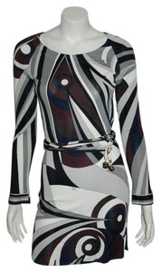 Emilio Pucci Blue Longsleeve Square Neck Dress