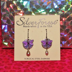 Silver Forest Silver Forest Dragonfly Surgical Steel Earrings