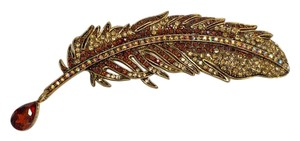 Adrienne Landau Crystal Leaf Pin/Brooch
