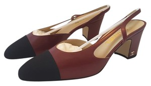 Chanel Bordo Slingbacks Red Pumps