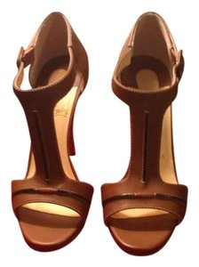 Christian Louboutin Cognac Brown Sandals