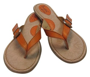 B.O.C. Size 9.00 M Leather Chestnut Brown Sandals