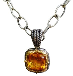 D Chabbott Citrine, Sterling Silver and 14K Gold