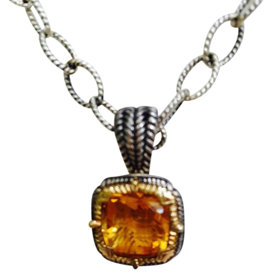 Sterling silver 14k gold golden topaz citrine and necklace tradesy d chabbott citrine sterling silver and 14k gold aloadofball Images