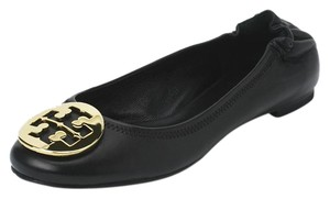 Tory Burch Leather Reva Black Flats