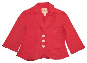 Anthropologie Coral, red Blazer