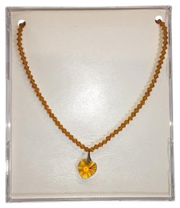 Other Topaz Heart Beaded Necklace November Birthstone