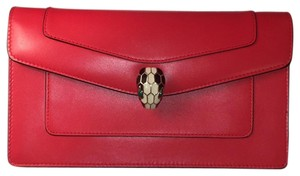 BVLGARI Scarlet Red Clutch
