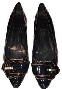 Fendi Patent Leather Loafers Black Flats