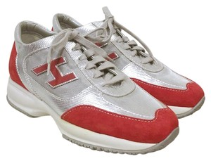 Hogan Red, Silver, White Athletic