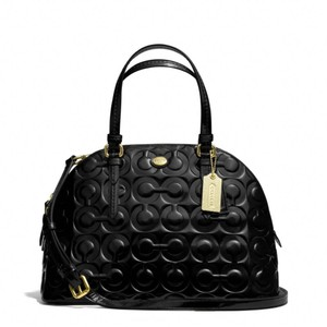 Coach Patent Leather Satchel in Black