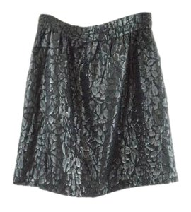 Halston Party Night Life Sparkle Mini Skirt Black