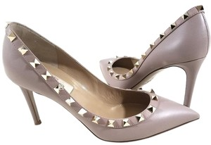 Valentino Smooth-leather Nude poudre Pumps