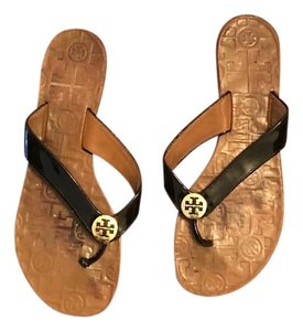 Tory Burch Black Patent Sandals