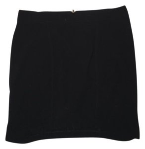 Helmut Lang Mini Zipper Mini Skirt Black