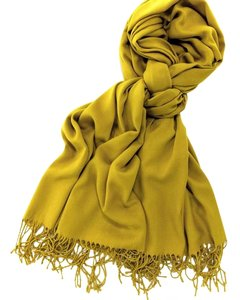Cashmere Pashmina Group Mustard Cashmere Wool Scarf