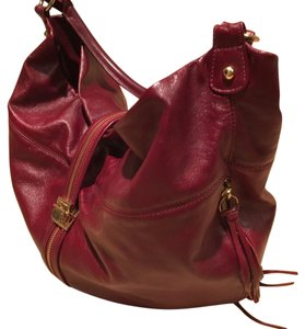 Rebecca Minkoff Satchel Leather Red Chic Hobo Bag
