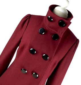 Black Rivet Pea Coat