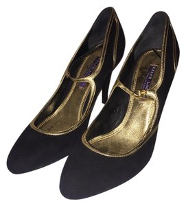 Ralph Lauren Black/Gold Pumps