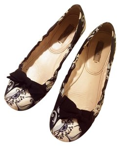 Prada Black, white, gray Flats