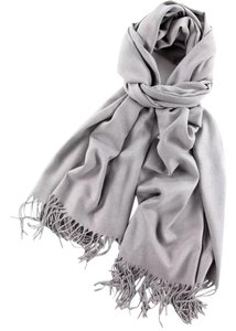Cashmere Pashmina Group Silver Gray* Cashmere Wool Shawl