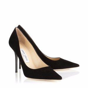 Jimmy Choo Suede Pointed Toe Stiletto Black Pumps