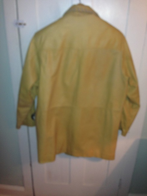 By Wilsons Western Country Leather Beige Leather Jacket