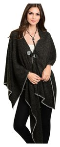 Poncho Cardigan Shawl Draped Sweater